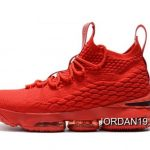 Men's Nike LeBron 15 Ohio State PE All-Red Basketball Shoes Buy Now SKU:118654-933