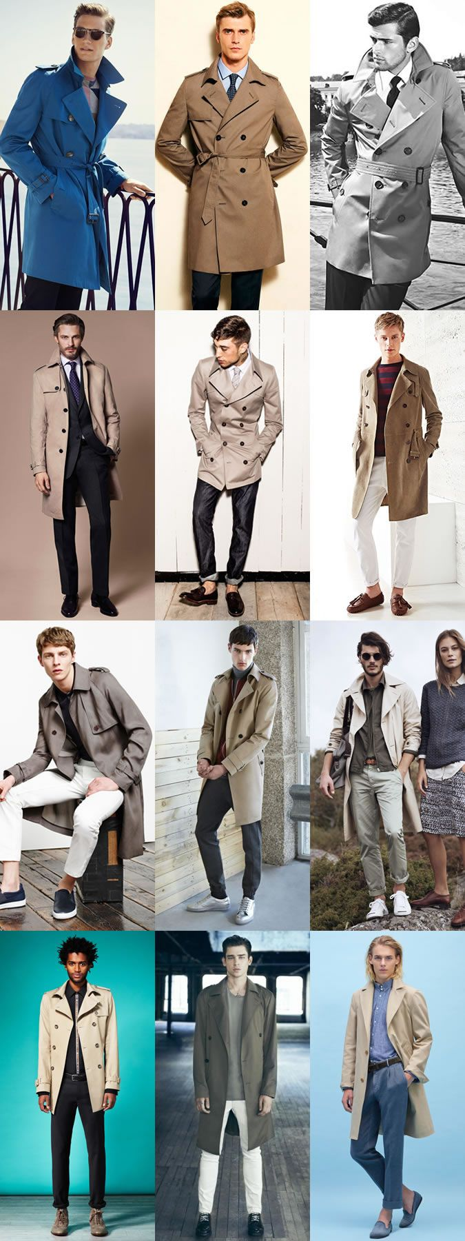 Men's Key Spring Jackets And How To Wear Them: The Trench Coat Lookbook Insp…