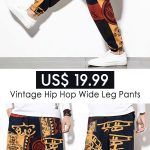Mens Baggy Cotton Linen Harem Pants Vintage Hip Hop Wide Leg Pants Streetwear Pants