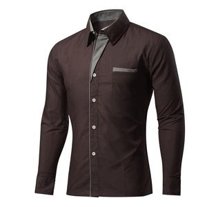 Mens Long Sleeve Non Iron Formal Dress Shirts Pure Cotton Wrinkle Free Business …