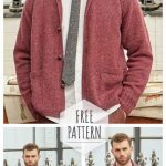 Mens Raglan Cardigan with Knitting Needles Free Pattern
