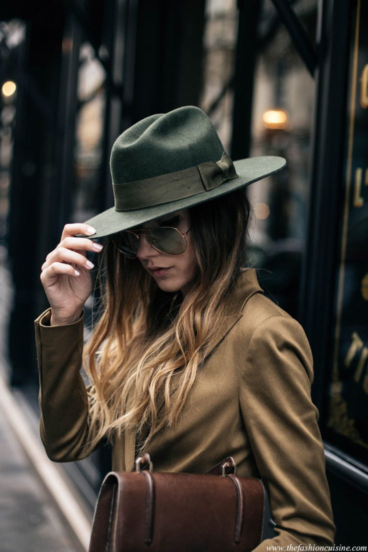 Menswear for women brixton fedora hat and mustard suit with aviator sunglasses o…