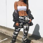 Missguided Premium Gray Camo Printed Cargo Pants