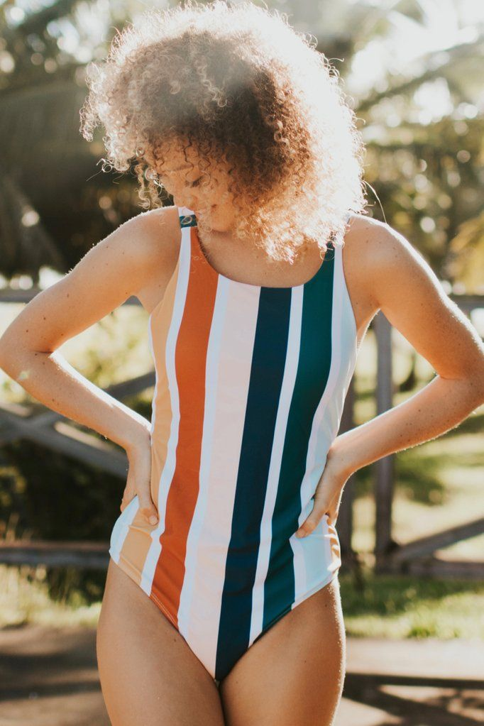 Multi Stripe One Piece