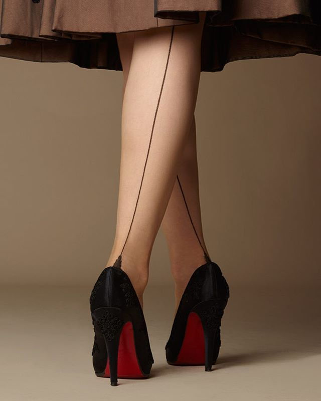 My signature French-heeled fully fashioned seamed #stockings, made on the…