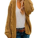 New Astylish Women Open Front Long Sleeve Chunky Knit Cardigan Sweaters Loose Outwear Coat S-XXL online