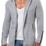 New EastLife Mens Cardigans Knitted Hoodie Jacket Long Sleeve Casual Sweater Sid...