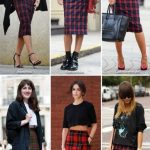 New Skirt Plaid Long Outfit Ideas