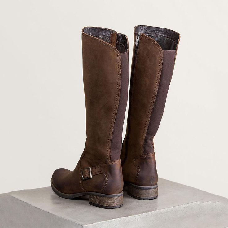 New Women's Leather Tall Riding Boots