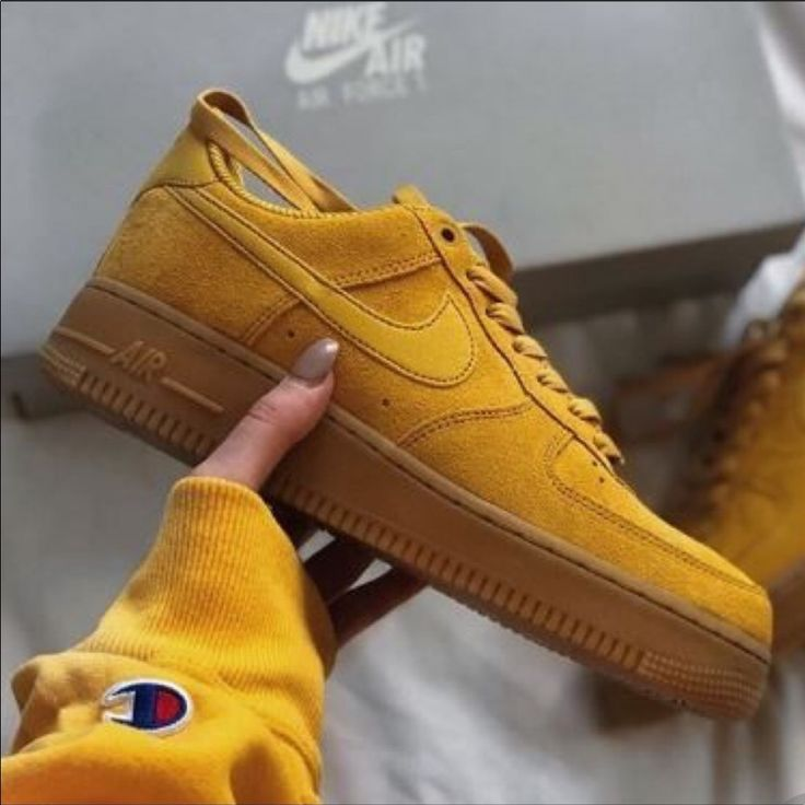 Nike Shoes | Nwt Nike Air Force 1 Special Edition | Color: Tan/Yellow | Size: 10…