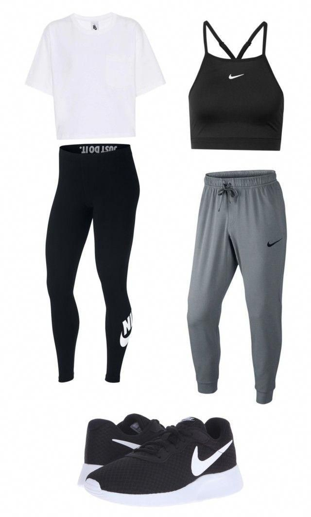 Nike workout outfits by gracielazarco on Polyvore featuring NIKE #WorkoutClothin…