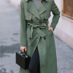 Olive Trench Coat + Cap Toe Pumps
