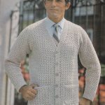 PDF crochet men's cardigan vintage crochet pattern pdf INSTANT download pattern only pdf 1970s