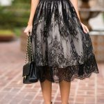Pd81219 New Arrival Skirt, Street Style Skirt,Lace Skirt,Fashion Women Skirt,Spring Autumn Skirt ,Knee-Length Skirt