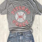 Pitches Be Crazy Baseball T-shirts - Grey S