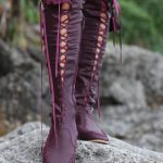 Plum Knee High Boots