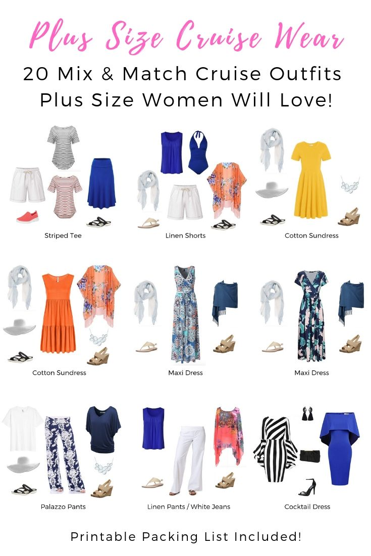 Plus Size Cruise Wear – 20 Mix & Match Cruise Outfits Plus Size Women Will Love!