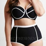 Plus Size High Waist Hollow Out Two Pieces Swimsuits | www.babyonlinewho...