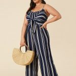 Product Name:Plus Size Striped Jumpsuit, Category:plus_size-main, Price:29.9