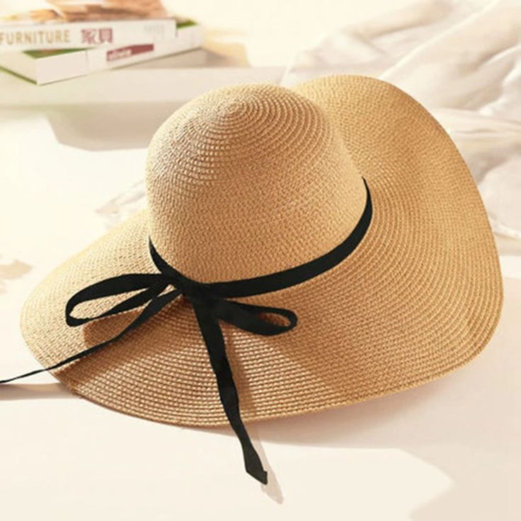 Raffia Wide Brim Straw Hats PU27