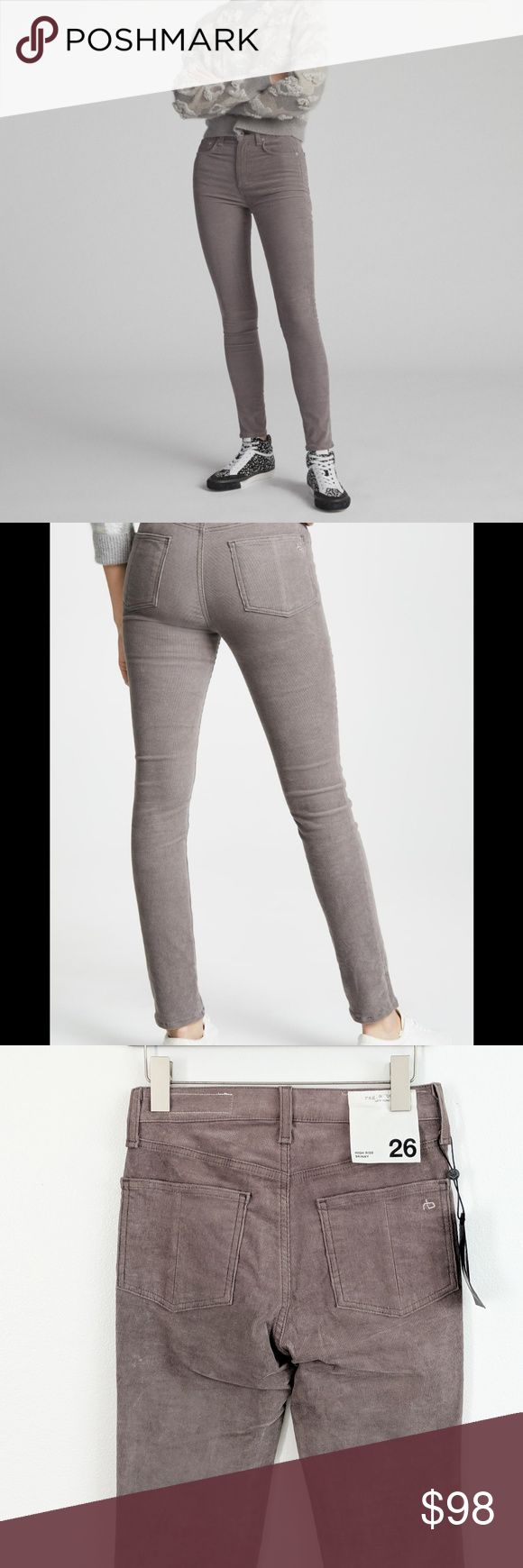 Rag And Bone High Rise Corduroy Skinny Size 26 Rag And Bone High Rise Corduroy S…