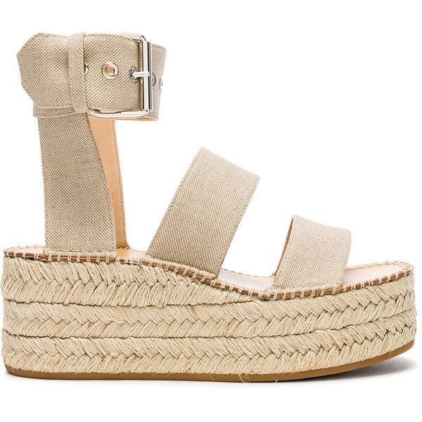 Rag & Bone Canvas Tara Sandals ($455) ❤ liked on Polyvore featuring shoes, san…