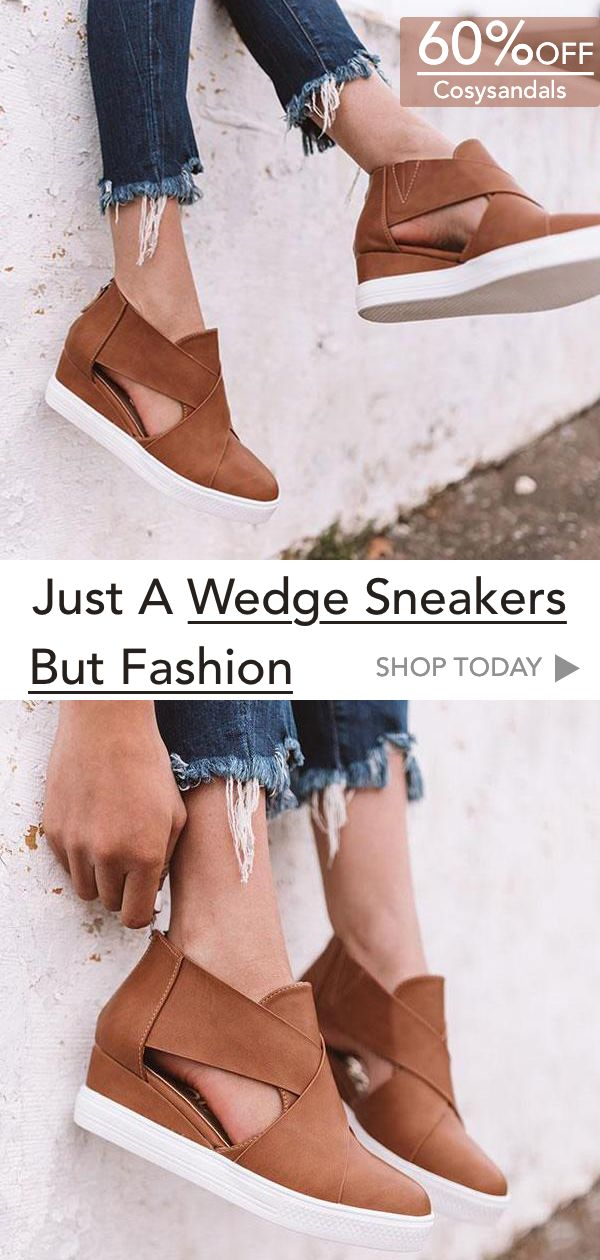SHOP NOW! $36.98 Wedge Sneakers. UP TO 60% OFF!