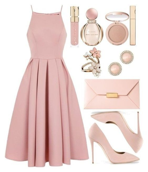 SHOP THE LOOK: pink dress look | spring look | blush