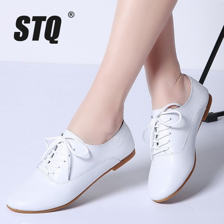 STQ 2018 Spring women oxford shoes ballerina flats shoes women genuine leather shoes