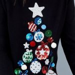 Sequin Christmas Tree Jumper.  Christmas Jumpers for Her. Cute Christmas Jumper....