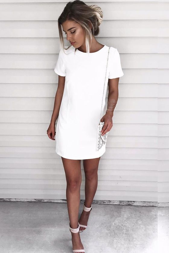 Shimmy, shuffle, and shake in the Shift and Shout Ivory Shift Dress, because you…