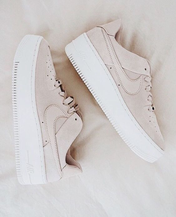 Shoes | Sneakers | Beige sneakers | Nike | Platform sneakers | On trend | Neutra…