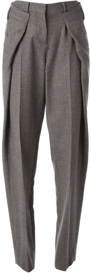 Shop for origami tweed trousers by Maison Margiela at ShopStyle. Now for Sold Ou…