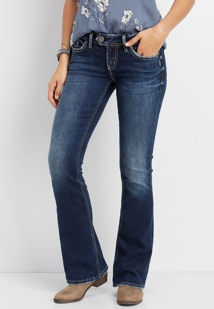 Silver Jeans Co.® Womens Tuesday Low Rise Boot Cut Jean Blue Denim – Size 24W