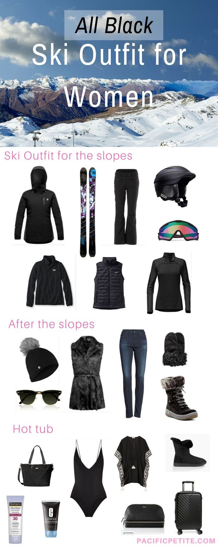 Ski outfits for women, what to pack