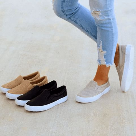 Slip On Running Flat Sneakers (Ship in 24 hours)