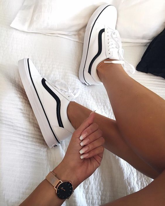 Sneakers | Vans | White sneakers | Watch | Inspiration | More on Fashionchick