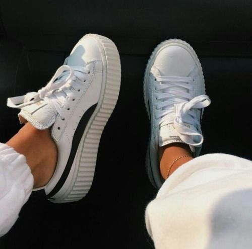 Sneakers | White sneakers | Platform sneakers | Inspiration | More on Fashionchi…