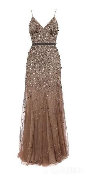 Spaghetti Straps Sequin Sparkly Shinning Bling Modest Long Fashion Prom Dresses, PD1319 Spaghetti Straps Sequin Sparkly Shinning Bling Modest Long Fashion Prom Dresses, PD1319
