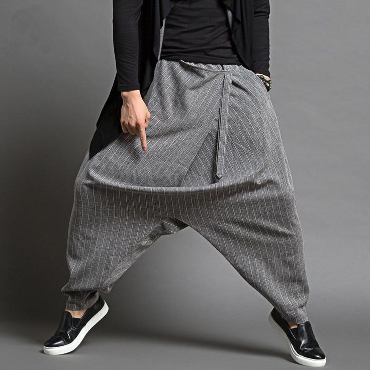 Spring Summer 2017 Men Thin Loose Harem Pants Men Fashion Design Baggy Pants Trousers Casual Dancer Brand Men's Sagging Pants