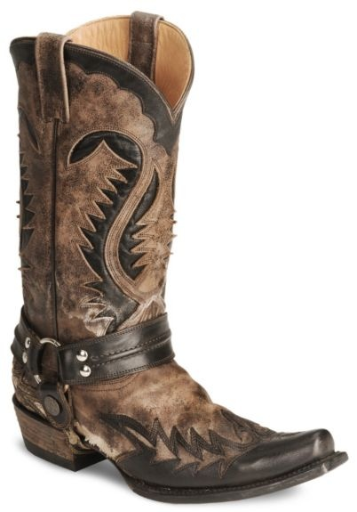 Stetson Brown Harness Cowboy Boots – Snip Toe