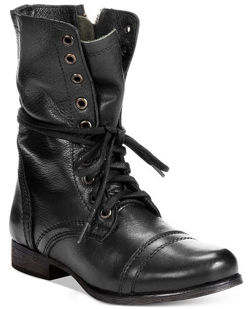 Steve Madden Women Troopa Combat Leather Boots