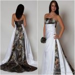 Strapless Camo Wedding Dresses with Pleated Waist A-line Sleeveless Realtree Camouflage Betra Bridal Gowns