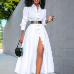 Style Pantry | Tea Length Shirt Dress