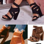 Stylish Open Toe Elastic Band Heel Sandals