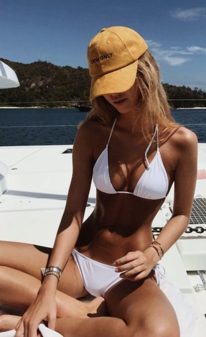 Summer Style & Beach Wear Ideas 2017 / 2018 baseball caps white bikinis | summer…