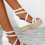 Sundance White Platform Wedges - UK 3