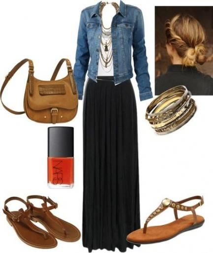 Super How To Wear Black Jeans Outfits Maxi Skirts 33+ Ideas