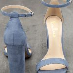 Taylor Blue Suede Ankle Strap Heels