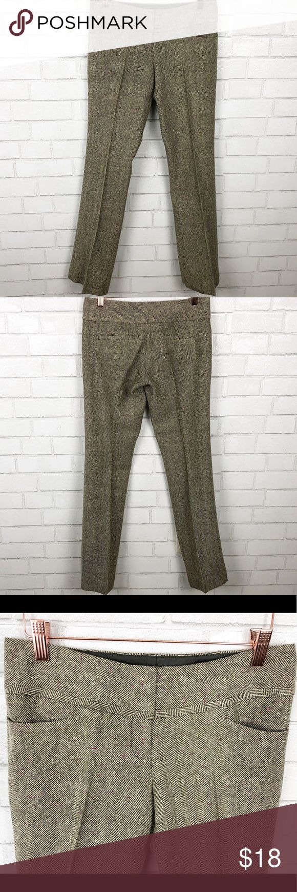 The Limited Drew Fit Tweed Trousers Size 2 The Limited Drew Fit Straight Leg Twe…